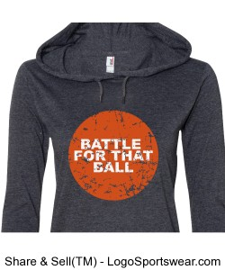 Battle Ball Hoodie Design Zoom